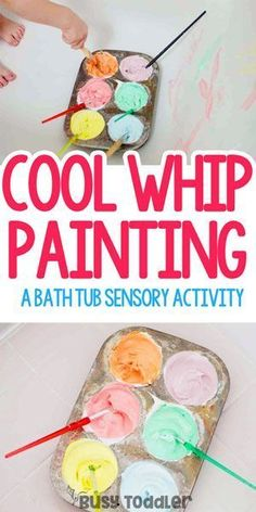Painting Cool Whip Painting: What an awesome toddler activity!Cool Whip Painting: What an awesome toddler activity!Whip Painting Cool Whip Painting: What an awesome toddler activity!Cool Whip Painting: What an awesome toddler activity! Toddler Learning Activities, Infant Activities, Preschool Activities, Kids Learning, Family Activities, Time Activities, Motor Activities, Early Learning, Toddler Play