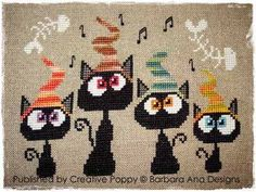 cat cross stitch patterns free | stitchandfrog.comA cats cross stitch pattern