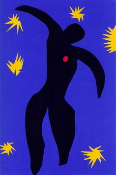 henri emile benoît matisse(1869-1954), jazz: icarus, 1943-44. stencil print after paper cut-out, 42.2 x 26.9 cm. victoria and albert museum, london, uk