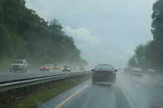 Good tips on rainy weather driving, not that we have any Rain ....but for future