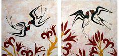 Minoan fresco showing swallows - Akrotiri, island of Santorini I have one of these swallows tattooed on my back. Fresco, Creta, Ancient Art, Ancient History, Ancient Greek, Bronze Age Civilization, Minoan Art, Greek Culture, Greek Art