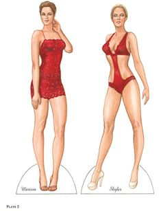 Image result for ladies in red paper dolls
