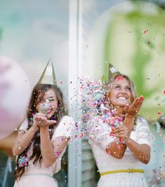 """""""Our Push-Pop Confetti™ is not for everyone. I mean it should be, but not everyone is a confetti person. Personally, I think confetti people are the best, but seriously it helps bring another element of fun to the wedding. Who doesn't want sparkly bits of color flying through the air?"""""""