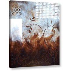 ArtWall Herb Dickinson Splashy Umber Gallery-wrapped Canvas, Size: 14 x 18, Silver