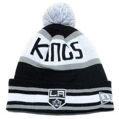 96d783f3536 New Era Los Angeles Kings Beanie w  Pom (Black Grey-White). baseballcaps  cheap · NHL wool hats