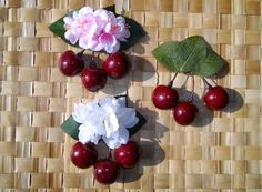 Beatiful triple cherry with pink or white by SophisticatedFlowers, €7.50