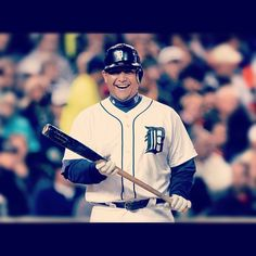 You'd be smiling at the plate, too if you were Miguel Cabrera. #Miggy4MVP