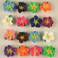 50 PCS Mixed Color Fimo Polymer Clay Flower Beads 20mm
