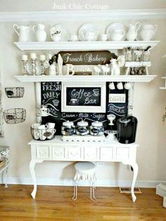 top shelving and lower serving area