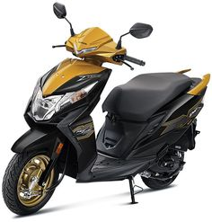 Honda Dio scooter is offered in 5 colors under Standard variant and 4 colors in Deluxe variant. Check Honda Dio New Model 2020 Colors Orange Grey, Blue Yellow, Orange Color, Gray Color, Honda Scooters, Honda Motorcycles, Yellow Candy, Metallic Colors, Green Colors