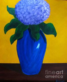 Blue Hydrangea by Anita Lewis  Prints, Greeting Cards, iPhone Cases and Galaxy Cases are available at http://Anita-Lewis.artistwebsites.com.  Best Wishes ~ Anita  xoxo  http://BeccaShopNu2u.IndieMad.com  Copyright Anita Lewis. All Rights Reserved.