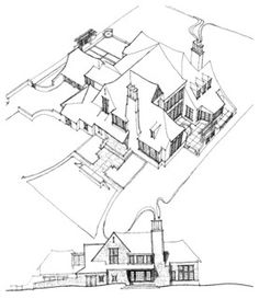 Home Design Drawing Sketches - Drawings - Chicago - Culligan Abraham Architecture Sketches - Architecture Sketches, New Architecture, Historical Architecture, Plan Drawing, Drawing Tips, Drawing Sketches, Drawing Ideas, Sketching, Designs To Draw