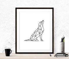 Image result for geometric dog art