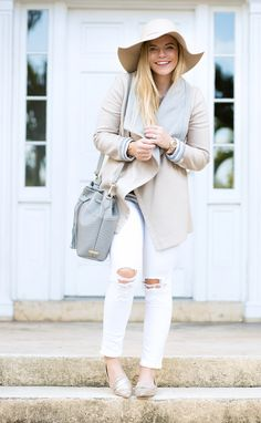 Oh wow, I really adore this mix of light neutrals and I'm completely in love with the light metallic pointed toe flats!!
