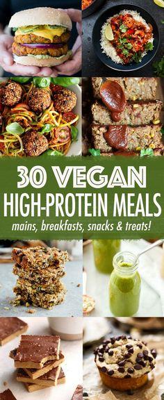 30 High-protein Vegan Meals #Vegan #PlantBased #Protein