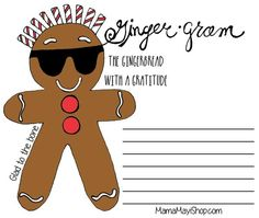 Picture of FREE Printable - Ginger Gram - Gratitude