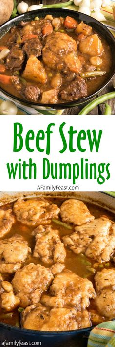 Beef Stew with Dumplings - Delicious, savory comfort food!