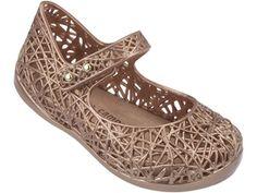 Mini Melissa Campana Zig Zag IV Mary Jane Shoe Bronze