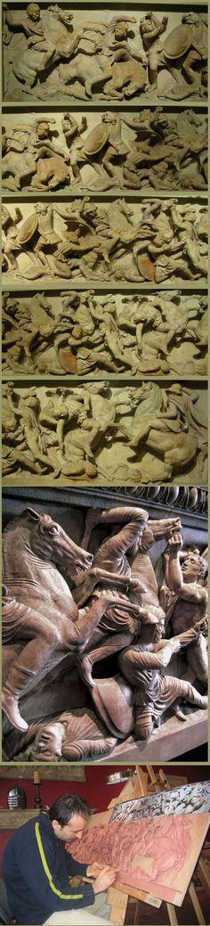 Alexander the Great Sarcophagus  Large Plaque (Battle Scene) Sculpture picture, photo