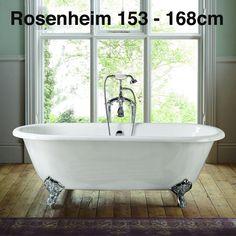 ROSENHEIM 153cm-168cm | CastIron Bathtub Enamel Cast iron