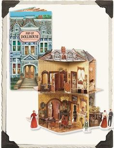 Pop Up Dollhouse Book. I would've loved this as a little girl. Ok, who am I kidding. I'd still love this! Maybe I can make one. Hmmm...