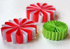 Simple Paper Flower Ornaments | AllFreeChristmasCrafts.com