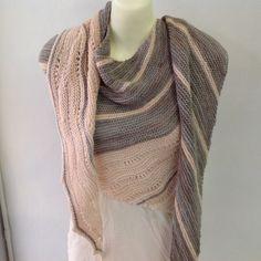 "Beautiful, soft Fino by Manos del Uruguay.  ""Girl from the grocery store"" shawl by Joji Locatelli."