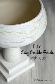 Easy DIY Crackle Finish Using Glue