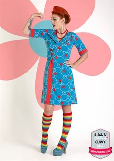 Margot kjole FIFFI FUNLOVE no 710 med sæbebobler og hjerter /  margot dress mwmwear