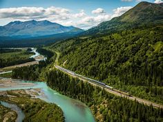 The ride of a lifetime. Travel by train through the Alaskan interior in glass-domed traincars with 360-degree views. Pinned from Royal Caribbean International #cruise #cruiseabout #Alaska