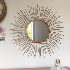 Orangevertevintage — Très grand Miroir Soleil Vintage