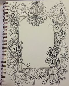 """DECORATIVE PAGE BUDS (video and photos) - LESSON EIGHT: """"Bloomin' Borders"""" - Bloomin' Doodles"""
