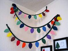 Christmas Light Garland: Cute idea made from felt...