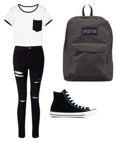"""Untitled #33"" by spikeytwister on Polyvore featuring WithChic, Miss Selfridge, Converse and JanSport"