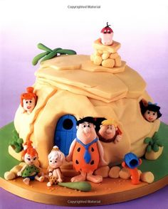 Amazing Flintstones Cake by Debbie Brown Gorgeous Cakes, Pretty Cakes, Cute Cakes, Amazing Cakes, Crazy Cakes, Fancy Cakes, Pink Cakes, Unique Cakes, Creative Cakes