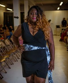 The lovely @crown_queen_sugar wearing MyrdaJ from Sophisticated Curves at the Rock the Curves Fashion Show. @myrdaj #rockthecurves #plussizefashion #plussizemodel #plussizeprofessional