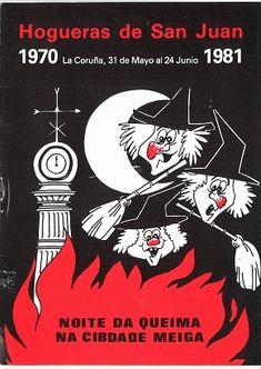 HOGUERAS de San Juan : La Coruña, 31 de mayo al 24 de junio, 1981 : noite da queima na cibdade meiga. / escriben, Eugenio Fernández y Manuel Seoane Mejuto. -- [A Coruña : Concello, 1981]. -- [16] p. :  il. ; 23 cm. 1. A Coruña-Festas-Programas |