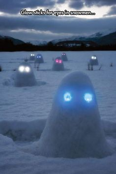 That looks so demonic and mean! ... I have to remember that for the next time I'm out in the snow! :D