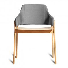 """<p style=""""text-align: justify;""""><span>Sturdy yet elegant and comfortable without being overly plush, Clutch's rounded edges and curved back wrap around to provide the perfect resting spot for arms. Your choice of white oak or smoke on ash wood. </span></p>"""
