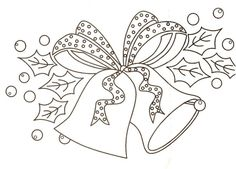 bells embroidery pattern