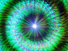Spiral Wall Decor Green Chakra Reiki Energy Art Print Abstract 8 x 10
