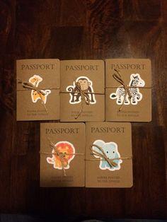 Safari passport invitation Safari Kids by KarlaBrownDesigns