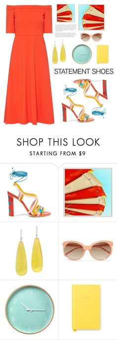 """Statement shoes"" by freetimefashion ❤ liked on Polyvore featuring TIBI, Paula Cademartori, Pottery Barn, Michael Kanners, Linda Farrow and Kate Spade"