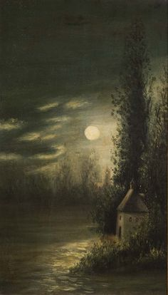 catonhottinroof:  Lev Lagorio     Full moon over the Crimea, 1879