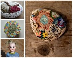 20 Unique Examples of #Crochet Covered Stone #Art