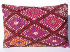 MODERN Bohemian Home DecorHandwoven Turkish Kelim Lumbar by sofART, $52.00