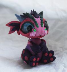 Little bit crazy- pink and purple dragon by BittyBiteyOnes on deviantART