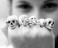 Exhilarating Jewelry And The Darkside Fashionable Gothic Jewelry Ideas. Astonishing Jewelry And The Darkside Fashionable Gothic Jewelry Ideas. Glam Style, My Style, Skull Jewelry, Gothic Jewelry, Skull Rings, Body Jewelry, Stone Jewelry, Jewelry Rings, Crane