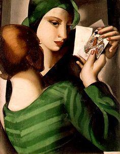 Card Players - Tamara de Lempicka.. www.fashion.net