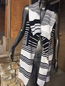 Vince XS Wool Cashmere Blend Graphic Drape Sleeveless Vest Mint Free SHIP $375 | eBay